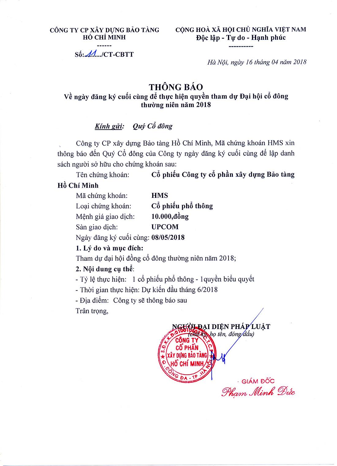 2018 Thong bao ngay dang ky cuoi cung